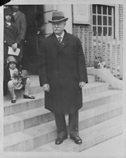 1930 Chief Justice WILLIAM HOWARD TAFT Posing Press Photo