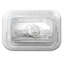 10 Pouces Once Argent 999 Lingot D'Argent USA D'or Lion Mint Lion Argent Fin Ag