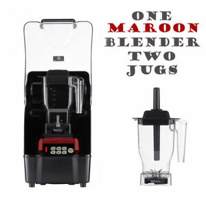 OmniBlend Pro Commercial Blender + Enclosure + 2 Jugs Ice Smoothie Milkshake Bar