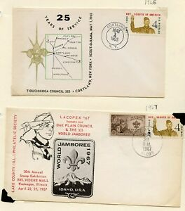 UNITED STATES  LOT OF SIX SPECIAL CANCELATION  COVERS AS SHOWN