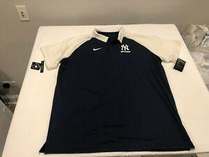 NWT $70.00 Nike Mens New York Yankees Legacy Raglan SS Polo Navy / White SZ XXL