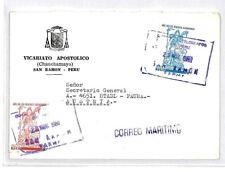 CM332 *PERU* Missionary Air Mail MIVA Austria Cover
