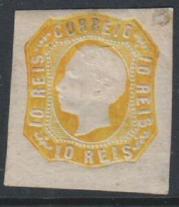 Portugal - 1862/4, 10r Orange-Yellow - 4 Margins - M/m - SG 29