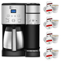 Cuisinart 10-Cup Thermal Single-Serve Brewer Coffeemaker Silver + 12 K-Cups