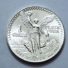 1985 UNC SILVER MEXICO Mexican Libertad,1 Onza,Pura Plata,1 oz, No Reserve,