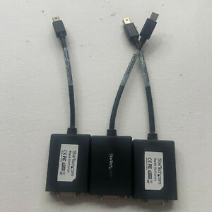 3 StarTech.com MDP2VGA Mini DP DisplayPort to VGA Video Adapter Converter Black