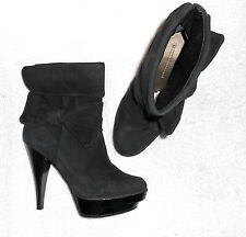 FRENCH CONNECTION bottines à enfiler cuir daim noir P 38 TBE