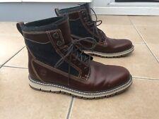 Timberland Mahogany Leather BRITTON HILL Sensorflex Boots Sz 10 44.5 Mint