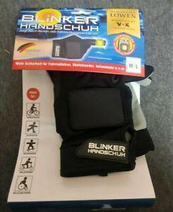 Blinker Handschuhe Schwarz M/L mit Touch- Funktion