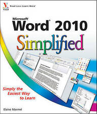 Marmel, Elaine, Word 2010 Simplified (Simplified (Wiley)), Very Good Book