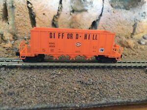 N Scale Micro trains 3 bay rapid discharge hopper GIFX GIFFORD HILL CO. NIB