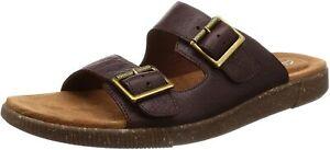 Men's Clarks Comfy Slipper Sandal Vine Cedar Mahogany Brown 26139804