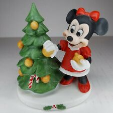 Vintage Porcelain Minnie Mouse Decorating Christmas Tree Disney Gift Ware Taiwan