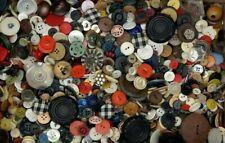 Large 3 lb Vintage Mixed Sewing and Craft Buttons Lot, Estate Sale Find, Lot D