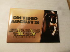 Star Wars Pin Back Trilogy Special Edition Video Store Button August 26, 1997