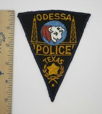 ODESSA TEXAS POLICE PATCH (Blue Center) Original 1940s Vintage Pie Shape