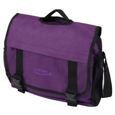 Large Girls Messenger Satchel Shoulder Travel Work School College Bag Purple