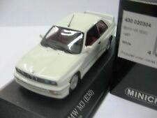WOW EXTREMELY RARE BMW M3 E30 2.3L 16V 1987 White 1:43 Minichamps-635/E36/M5/GTR
