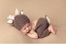 Newborn Girl Boy Baby Crochet Outfit Knit Costume Clothes Photo Photography Prop