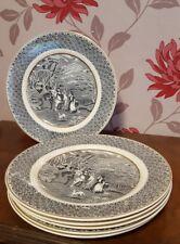 Rustic Victoria Porcelain Salad Plate X 6     (cb9)