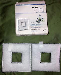 2 Pack Fluval Chi Aquarium Fish Tank Square Replacement Filter Pads