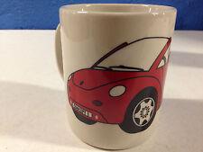 NEW! VW Volkswagen CONCEPT RED BUG BEETLE Coffee Mug Cup