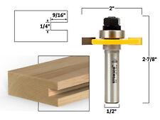 "1/4"" Slotting Cutter Router Bit Assembly - 1/2"" Shank - Yonico 12107"