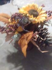 Beautiful  Homemade Sunflower Centerpiece