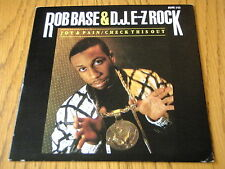 "ROB BASE & D.J. E-Z ROCK - JOY & PAIN  7"" VINYL PS"