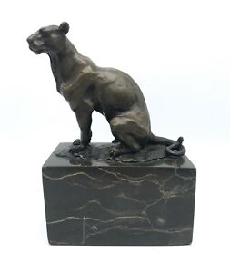 "1930s Bronze Sculpture ""Panther"" Louis Albert Carvin (1875-1951) Paris, France"