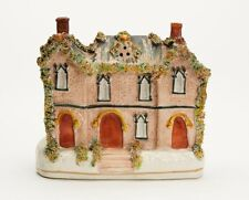 ANTIQUE STAFFORDSHIRE POTTERY COTTAGE 19TH C.