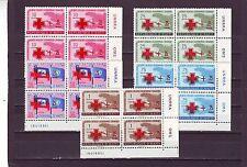 HAITI - SG628-632 MNH 1959 SURCH RED CROSS & VALUE - BLOCKS OF 4