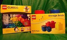 Lego Creative Building Box Classic Bricks 10695 580 Pc Storage 4104 Multi-pack