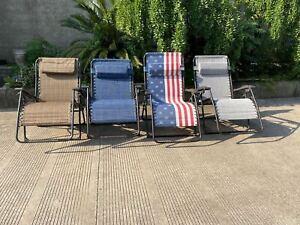 XL Textoline Sun Lounger Chair Recliner Garden  Reclining Head/Armrest Folding