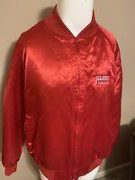 Vintage US Express American Trucking Association Mens Satin Nylon Jacket XL USA