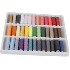 1 Box 39 Pcs Spools Colorful Polyester Embroidery Sewing Quilting Thread FG