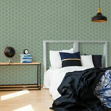Superfresco Easy Honeycomb Green Geometric Wallpaper