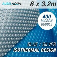 NEW Solar Swimming Pool Cover 6x3.2 Blue/Silver Outdoor 400 Bubble Blanket
