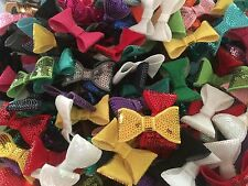 "10 x Sequin Bows Ties 2"" Assorted Mixed Colours"