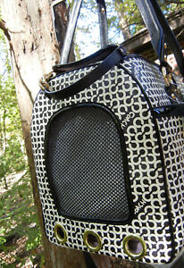 Coach Dog Carrier Cat Pet Tote Travel Bag Penelope Op Art *FAST INSURED SHIPPING