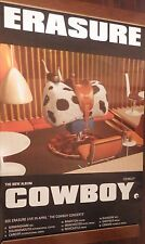 "40x60"" Huge Subway Poster~Erasure 1997 Cowboy w/Concert Tour Dates Andy Bell~Nos"