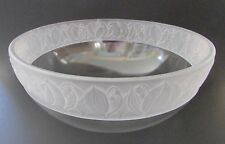 "Sasaki ""Lily of the Valley"" Large Relief Border Crystal Bowl/Centerpiece 10 1/4"""