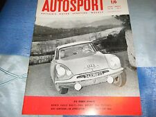 Monte Carlo Rally 1959 Citroen ID19 COLTELLONI Pat Moss Ann sabiduría Austin A40