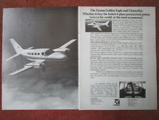2/1982 PUB CESSNA GOLDEN EAGLE CHANCELLOR AVION AIRCRAFT FLUGZEUG ORIGINAL AD