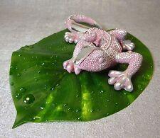 Formano Deko Lurch trend rosa silber 19 cm mit Blatt Gummibaum Geschenk   NEU