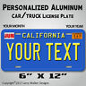 California Blue Your TEXT MONTH YEAR Personalized  Aluminum License Plate Tag