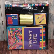 Dylan's Candy Bar Stationary Set Bear Hugs stickers cards You Rock Sweet Life