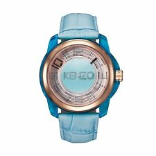 Kenzo K0094004 Men's Rose Gold & Blue Dial Blue Strap 46 mm Watch - RRP £ 129
