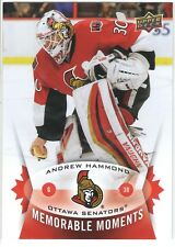 2015 UPPER DECK SPRING EXPO MEMORABLE MOMENTS MM-AH1 ANDREW HAMMOND RC