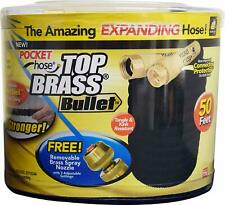 AUTHENTIC As Seen On Tv Pocket Hose Brass Bullet 50ft (Avoid Fakes & KnockOffs)